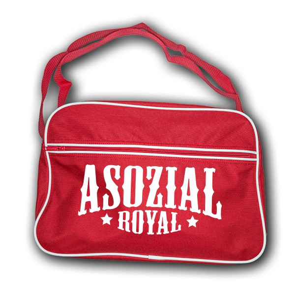 Retrobag Asozial Royal schwarz