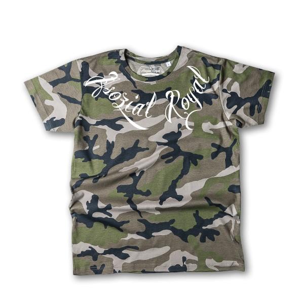 """T-Shirt Asozial Royal """"Poco Loco"""" Khaki"""