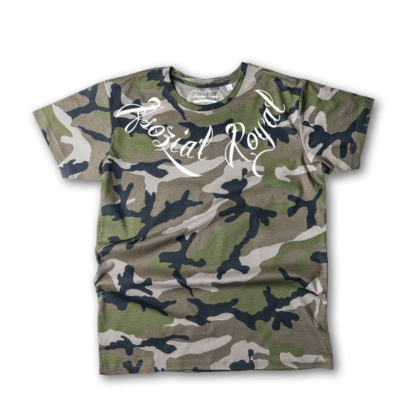 "T-Shirt Asozial Royal ""24-7"" Red"