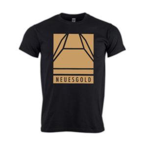 T-shirt-neues-gold-Block-gold