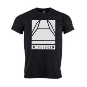 T-shirt-neues-gold-Block-weiss