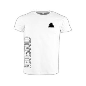 T-shirt-weiss-neues-gold-kontur
