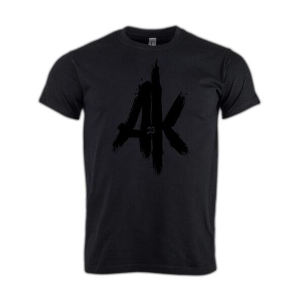 T-Shirt-black-AK-23-Logo-schwarz