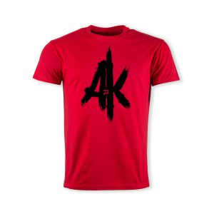 T-Shirt-red-AK-23-Logo-schwarz
