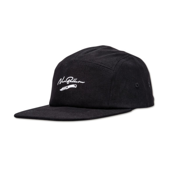 Cap-NurBallern-5Panel_Black_Front_